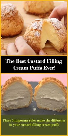 Cream Puff Filling, Cream Puff Cakes, Custard Filling, Custard Cream Puff Recipe, Recipe For Cream Puffs, Vanilla Cream Filling Recipe, Bavarian Cream Filling, Cream Puff Dessert, Easy Puff Pastry Recipe