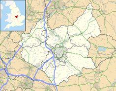 Leicestershire UK location map Ashby de la Zouch