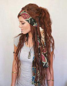 hair, boho, and hippie image