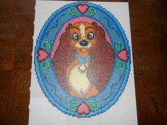 Disney Lady portrait hama perler beads (15 pegboards) by  hardy8676