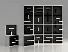 Create Unique Messages With This Typographic Bookcase - DesignTAXI.com