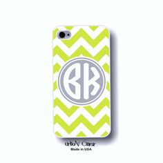 Chevron iphone case  green phone cover Personalized by UrbanCover, $16.99