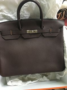 8399525ea7a Off to collect this beauty today. Hermès Birkin 40cm in chocolate brown Togo  leather with