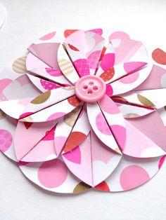 Handmade Pink Valentines Paper Flower / by LaurenHonakerDesign