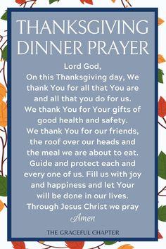 10 Best Thanksgiving Dinner Prayers - The Graceful Chapter