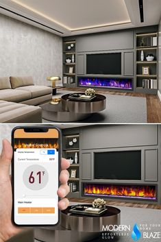 Tell Amazon Alexa or Google Home to turn on your fireplace! Our electric fireplace can be controlled using voice command with the Dynasty app. Fireplace Inserts, Electric Fireplace, Google Home, Building, Outdoor Decor, Home Decor, Decoration Home, Room Decor, Buildings