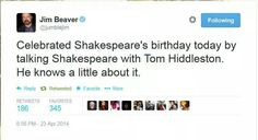 Oh my goodness, Hiddleston AND Jim Beaver?!?!?!?!?! Does it get any better?