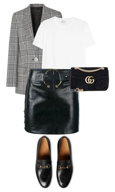 """#266"" by nataliyabodnar ❤ liked on Polyvore featuring Alexander Wang, Yves Saint Laurent, Anthony Vaccarello and Gucci"