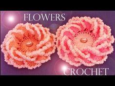Como tejer crear y diseñar flores en una sola tira - Make roses and flowers - YouTube
