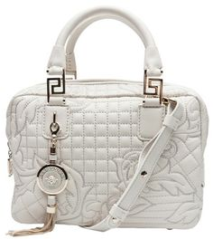 VERSACE  White Vanitas Quilted Bag
