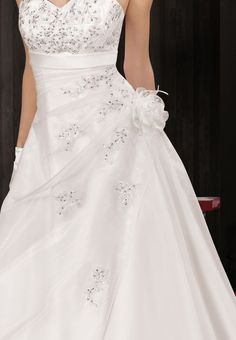 Robe de mariée princesse organza avec ceinture de strass  wedding ...