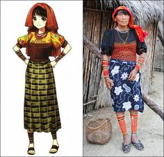 Traditional Clothes of Kuna People in San Blas Islands, Panama