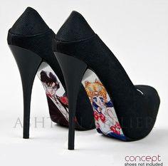 Sailor Moon zapatos pintados a mano personalizado por AshtonAtelier