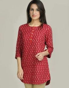 Short Kurti Designs, Simple Kurta Designs, Kurta Designs Women, Blouse Designs, Churidhar Designs, Kalamkari Tops, Kalamkari Dresses, Office Wear Women Work Outfits, Dress Indian Style