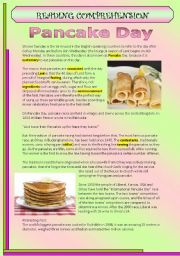 Reading comprehension and some vocabulary exercises. I hope you enjoy it :) have a lovely day! Vocabulary Exercises, Vocabulary Worksheets, Pancake Day Worksheets, Classroom Jobs Free, Shrove Tuesday Activities, Grade 3, Idioms, Reading Comprehension, Learn English