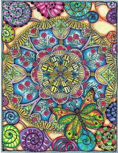 Rose & Butterfly Mandala - No Border by carolynboettner, via Flickr