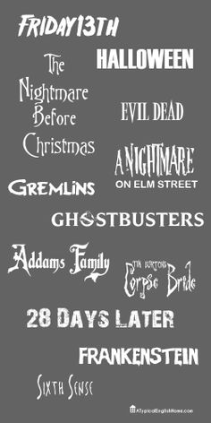 A Typical English Home: Halloween Movie Fonts  ~~ {12 Free fonts w/ links}
