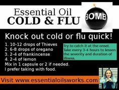 Essential Oil Cold & Flu Bomb