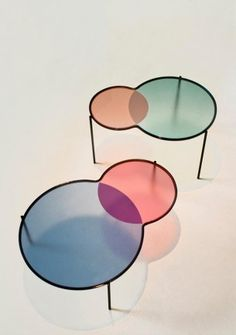 """Hues"" tables by Studio Outofstock"