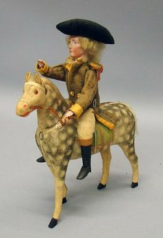 "11"" George Washington Sitting On Horse Candy Container"
