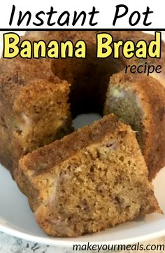 banana bread brownies Moist and delicious banana bread made right in your Instant Pot or Pressure Cooker. The perfect way to make bread without heating up the kitchen. Banana Bundt Cake, Make Banana Bread, Crockpot, Nut Bread Recipe, Best Nutrition Food, Fruit Nutrition, Pots, Instant Pot Dinner Recipes, Banana Bread Recipes