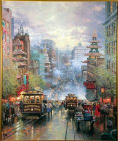 Painting by Thomas Kinkade .