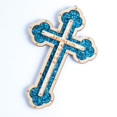 'Jesus Savior' Wall Wood Cross Filled with Turquoise Special Energy Stones the Perfect Easter Gift Wall Wood, Wood Crosses, Spiritual Health, Easter Gift, Savior, Stones, Turquoise, Amazon, Kitchen