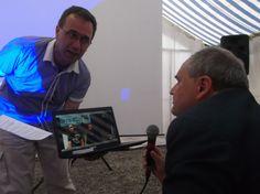 . Arch. Sordo grande amico di Doug Snider (organizzatore d'oltreoceano dell'incontro) saluto ai mastri birrai di Medford in teleconferenza (su PC x malfunzionamento grande schermo)