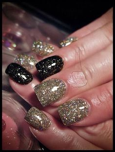 Sparkly black and gold