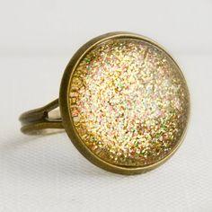 Golden Treasure Ring in Antique Bronze  by EnchantdLookingGlass, $11.20