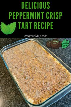 This peppermint crisp tart is always welcome as a dessert or on any cake table at gatherings. You may substitute the tennis biscuits with peppermint tennis biscuits and/or the caramel treat with peppermint caramel treat. Pepermint Crisp Tart, Peppermint Crisp, Tart Recipes, Dessert Recipes, Cooking Recipes, Kos, Biscuit Pudding, Caramel Treats, Homemade Essential Oils
