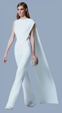 Elie Saab, Ready to Wear, Prefall 2013 Elie Saab, Ready to Wear, Prefall 2013 Fashion Mode, Couture Fashion, Womens Fashion, Wedding Robe, Wedding Dresses, Wedding Jumpsuit, Mode Style, White Fashion, Dress To Impress