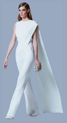 Elie Saab, Ready to Wear, Prefall 2013 Elie Saab, Ready to Wear, Prefall 2013 Wedding Jumpsuit, Mode Style, White Fashion, Couture Fashion, The Dress, Designer Dresses, Beautiful Dresses, Ideias Fashion, Evening Dresses