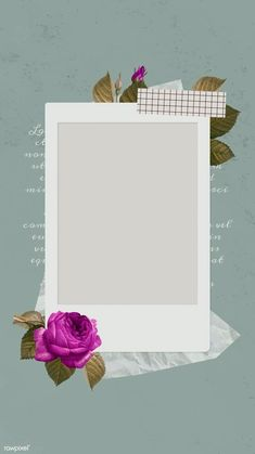 Framed Wallpaper, Flower Background Wallpaper, Flower Backgrounds, Picture Templates, Photo Collage Template, Creative Instagram Stories, Instagram Story Ideas, Birthday Post Instagram, Instagram Frame Template