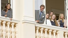 casiraghitrio: Presentation of Monaco's Royal Twins Princess Gabriella and Hereditary Prince Jacques, January 7, 2015-Princess Stephanie, Pierre Casiraghi, Camille Gottlieb, Princess Alexandra of Hanover and some of the various Grimaldi cousins