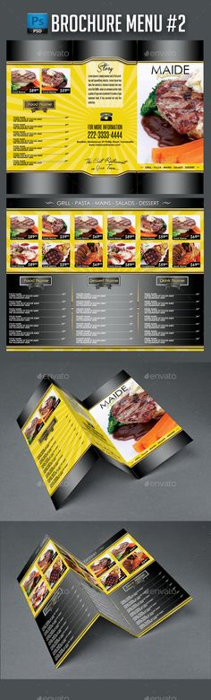 3 In 1 Bar Drink Menu Template Menu templates, Bar drinks and - food menu template