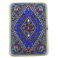 Silver Cloisonne Enamel Cigarette Case. Would use it for something different since I'm a non-smoker