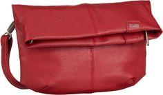 zwei Mademoiselle M4 Red (innen: Beige geblümt) - Umhängetasche