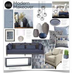 Modern Makeover With Grey and Scout 3 Modernes Makeover mit Grau und Pfadfinder 3 Home Living Room, Living Room Decor, Bedroom Decor, Living Room Color Schemes, Living Room Designs, Moodboard Interior, Interior Design Presentation, Interior Design Boards, Blue Rooms