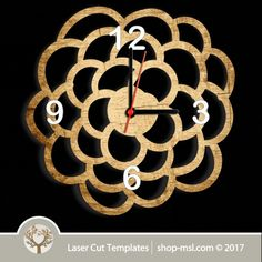 Laser cut wall clock / coaster templates, buy online now, free vector designs every day. Clock Template, Home Clock, Laser Cutter Projects, Scroll Saw Patterns, Coaster Set, Vector Design, Laser Cutting, Free Design, Templates