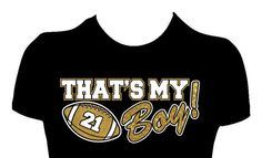 That's My Boy Football Mom Shirt Womens Personalized by GlitzyTees