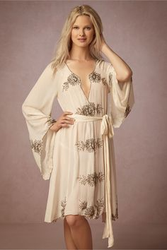 romantic, vintage-inspired lingerie for your honeymoon or wedding night | Minka Robe from BHLDN