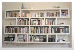 modern wall mounted bookshelves: remarkable beauteous attractive white wall mounted bookshelves