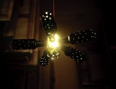 upcycled low light chandelier pendant by herywalery on Etsy