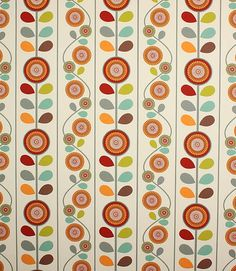 These colours are bang on trend -  http://www.justfabrics.co.uk/curtain-fabric-upholstery/apricot-marigold-fabric1/