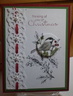 Beautiful Season by nodakstamper - Cards and Paper Crafts at Splitcoaststampers Karten schöne Karte Stamped Christmas Cards, Homemade Christmas Cards, Christmas Cards To Make, Xmas Cards, Christmas Greetings, Homemade Cards, Handmade Christmas, Holiday Cards, Christmas Christmas