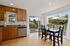 Granny unit kitchen with dining and a view! From property Glen Ellen Country Retreat