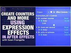 How to use expression effects and create counters in After Effects - Sean Frangella - YouTube