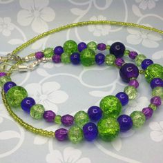 Green and Purple Cracked Glass Eyeglass by SugarHillGemsNJewels, $28.50