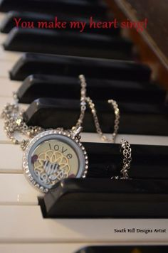Something about a piano....South Hill Designs Locket  www.SouthHillDesigns.com/TammyTamayo